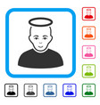 holy man framed enjoy icon vector image vector image