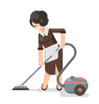 housemaid cleaner vacuum cleaner cleanliness flat vector image