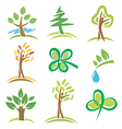 Icons trees plant vector image vector image