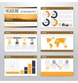 Infographics presentation template flat design vector image vector image