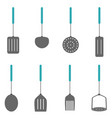 kichen tool set color vector image vector image