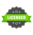 Licensed isolated seal green label