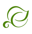 logo of green leaf of tea ecology nature element vector image vector image