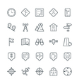 Map and Navigation Cool Icons 3 vector image vector image