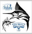 marlin fish - stock isolated vector image vector image