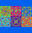 mexican talavera ceramic tile pattern with vector image