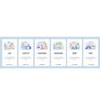 mobile app onboarding screens cybersport vector image