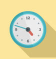 office wall clock icon flat style vector image