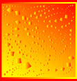 pattern from red diamonds on a yellow background vector image vector image