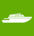 planing powerboat icon green vector image vector image