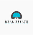 real estate initial letter d or letter o logo vector image