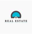 Real estate initial letter d or letter o logo