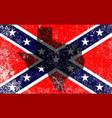 rebel civil war flag vector image vector image
