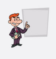 red hair businessman decided somewhat angry is vector image vector image