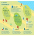 Running park infographic vector image vector image