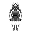 samurai japan warrior icon black color fill vector image
