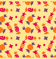 seamless pattern with colorful candy candy for vector image