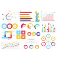 set elements of infographics info bars graphycs vector image vector image