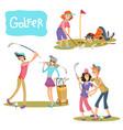 set golf games vector image