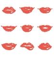 set lips vector image