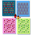 set of seamless patterns with colorful medical vector image vector image