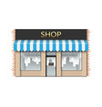 shop front store with empty showcase vector image vector image