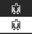 sitting eagle logo heraldic symbol in the vector image