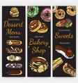 sketch bakery vintage card vector image vector image