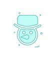 snowman icon design vector image vector image