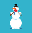 snowman omg xmas character oh my god new year and vector image vector image