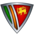 steel shield with flag sri lanka vector image