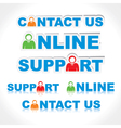 sticker of contact us support online vector image vector image