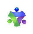 teamwork business people icon logo vector image vector image
