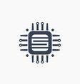 technology circuit board icon on white vector image vector image