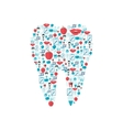 Teeth icons flat vector image