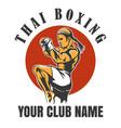 thai boxing club emblem vector image vector image