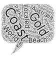 The Gold Coast Queensland Australia The Holiday vector image vector image