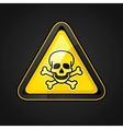 toxic warning sign vector image vector image