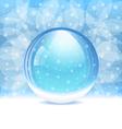transparent snow globe vector image vector image