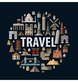 travel historic architecture of the world vector image vector image