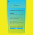 ui design register interface mobile vector image