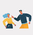 unhappy young family fighting at home vector image