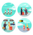 vacation and travel concept vector image vector image