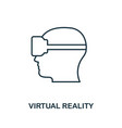 virtual reality icon monochrome style design from vector image vector image