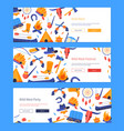 wild west - set flat design style web banners vector image