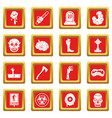 zombie icons set red vector image vector image
