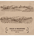 Fields and Mountains vector image