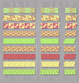 set of cute kawai decorative tapes or scotches vector image