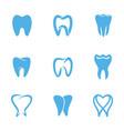 teeth white icon vector image