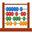 abacus math calculator flat cartoon vector image